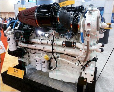 Miami International Boat Show 2014 - Caterpillar Marine Diesel