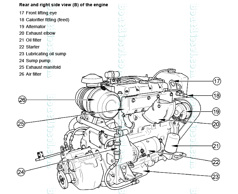 perkins m92b marine diesel propulsion engine