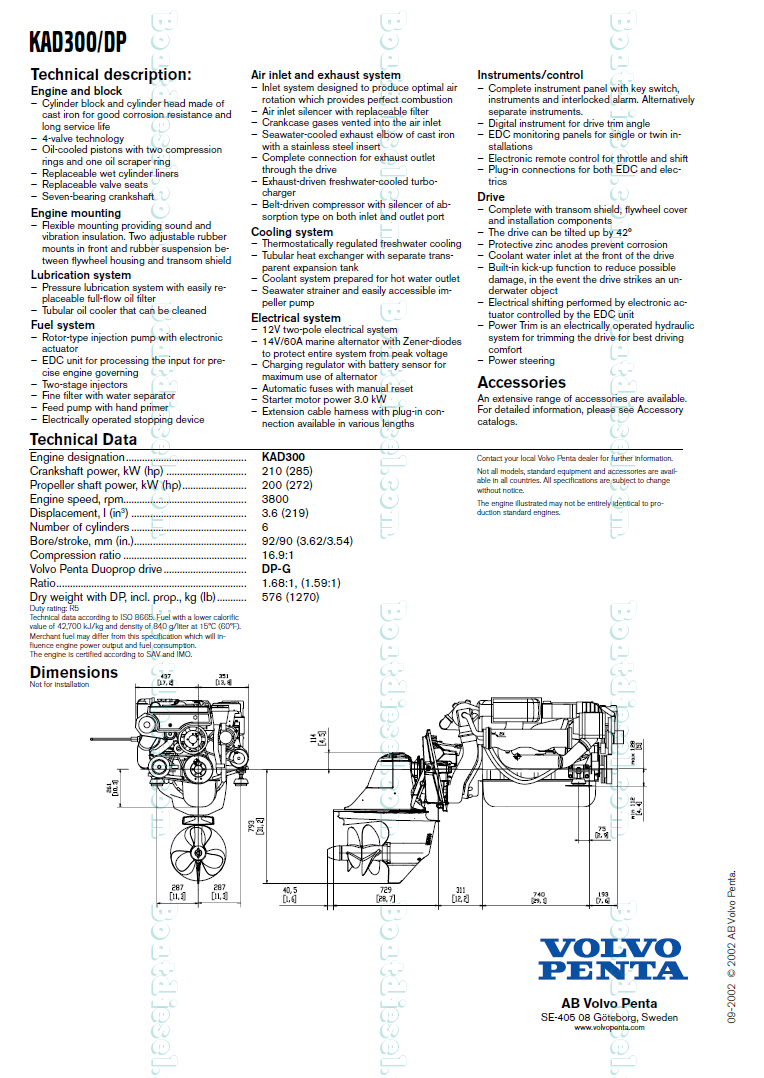 Volvo Penta Kad 32 Wiring Diagram Manual Of Engine Aq125a 4 3 Marine Fuel Pump