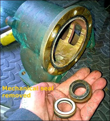 Volvo D12 D13 D16 raw water pump complete tear down and re