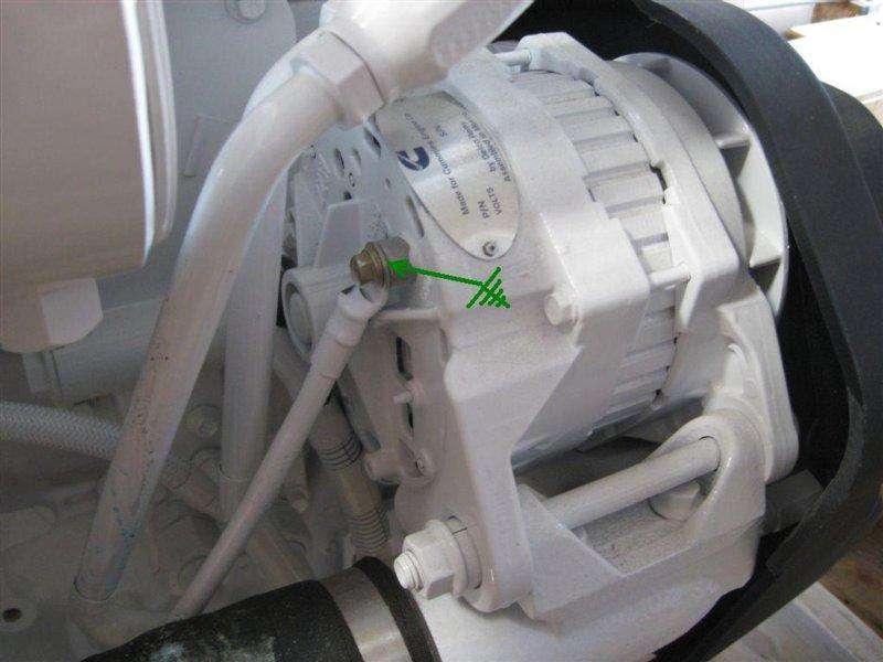 cummins qsb series cummins qsb alternator wiring 21 22si case grounding lead