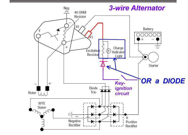 3 Prong Wiring Diagram Delco 10si. . Wiring Diagrams Instructions