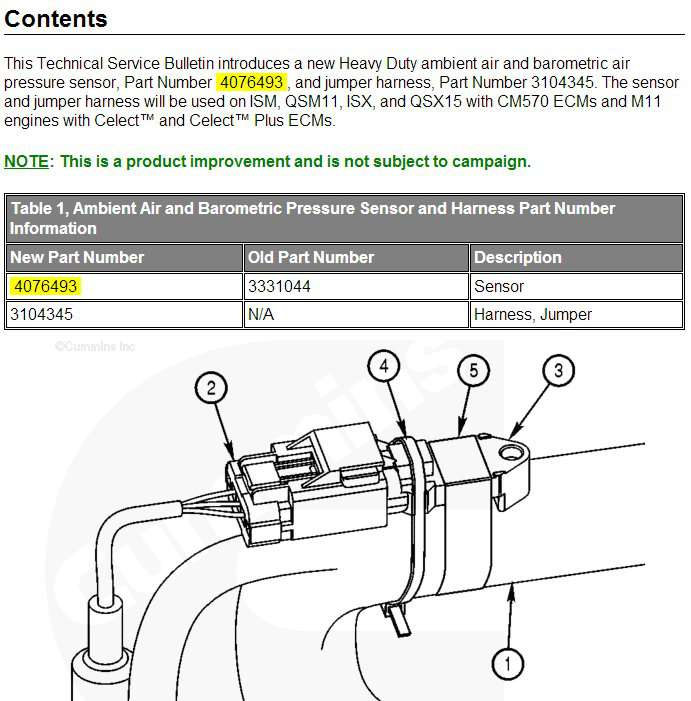 Cummins - QSM Series - Smart Craft Display Fault Code 222 Ambient
